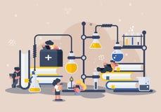 Ilustração médica moderna da tecnologia ilustração do vetor