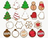 Ilustração mínima das cookies do Natal ilustração royalty free