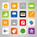 Ilustração móvel do vetor do ícone do botão da aplicação do telefone esperto do écran sensível Foto de Stock Royalty Free