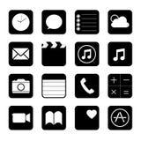 Ilustração móvel do vetor do ícone do botão da aplicação do telefone esperto do écran sensível Fotos de Stock