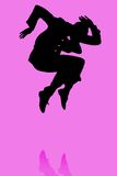 Ilustração masculina do dançarino ilustração stock