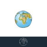 Ilustração mergulhada terra Imagens de Stock Royalty Free