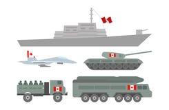 Ilustração militar da maquinaria Fotografia de Stock