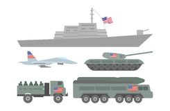 Ilustração militar da maquinaria Imagens de Stock
