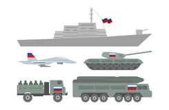 Ilustração militar da maquinaria Fotografia de Stock Royalty Free