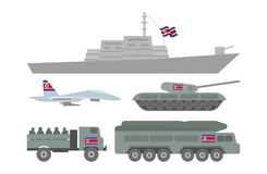 Ilustração militar da maquinaria Fotos de Stock