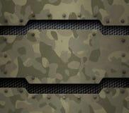 Ilustração militar do fundo 3d do metal Fotos de Stock