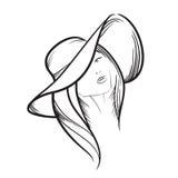 Ilustração modelo tirada mão do ícone do vetor da mulher Imagem de Stock Royalty Free