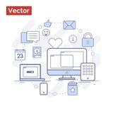 Ilustração moderna bonita para o Web site que que mostra gradualmente Imagem de Stock