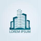 Ilustração moderna da cidade, construção urbana da arquitetura Fotografia de Stock