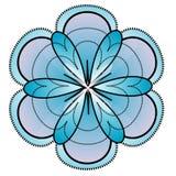 Ilustração moderna da flor Foto de Stock Royalty Free