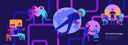Ilustração moderna das tecnologias ilustração do vetor