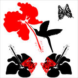 Ilustração moderna de preto, vermelho, branco ilustração royalty free