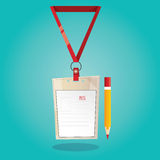 Ilustração moderna do cartão de imprensa no fundo azul Fotografia de Stock