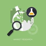 Ilustração moderna do conceito dos estudos de mercado do vetor ilustração stock