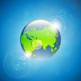 Ilustração moderna do globo da terra ilustração do vetor