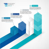 Ilustração moderna do vetor 3D infographic para estatísticas, analítica, relatórios de mercado, apresentação e design web Fotos de Stock Royalty Free