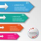 Ilustração moderna do vetor do projeto gráfico da informação de quatro etapas Ilustração Royalty Free