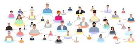 Ilustração moderna do vetor dos povos do relacionamento Imagem de Stock Royalty Free