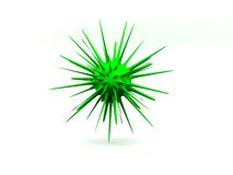 Ilustração molécula/3d verde isolada das bactérias Imagens de Stock Royalty Free