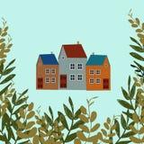 A ilustração mostra a casa velha ilustração do vetor