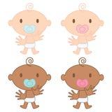 Ilustração multicultural dos bebês Fotos de Stock Royalty Free