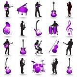Ilustração musical dos elementos Fotografia de Stock Royalty Free