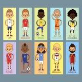 Ilustração nacional do vetor das equipas de futebol do futebol do copo do Euro ilustração royalty free