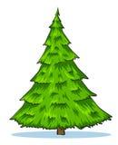 Ilustração natural verde da árvore de Natal Imagens de Stock Royalty Free