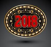 ilustração ocidental do vetor da fivela de cinto do vaqueiro 2018 Fotos de Stock