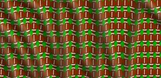 Ilustração ondulada do teste padrão da pele de porco do futebol com fundo verde Imagens de Stock Royalty Free