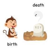 Ilustração oposta do nascimento e da morte ilustração stock