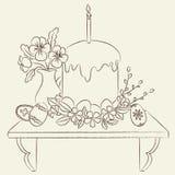 Ilustração ortodoxo da Páscoa Imagens de Stock