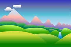 Ilustração ou fundo do estilo dos desenhos animados Imagem de Stock