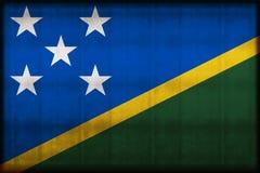 Ilustração oxidada da bandeira das ilhas de Salomon ilustração stock