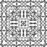 Ilustração para livro do esforço da coloração adulta o anti ou papel de parede, composição quadrada Foto de Stock Royalty Free