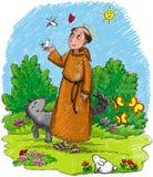 Saint Francisco de Assis ilustração do vetor