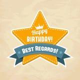 Ilustração para o cartão do feliz aniversario Imagem de Stock Royalty Free