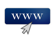 Ilustração para o Internet na cor azul ilustração do vetor