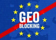 Ilustração para a obstrução do geo ilustração do vetor