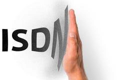 Ilustração para a parada programada gradual da tecnologia do ISDN imagem de stock