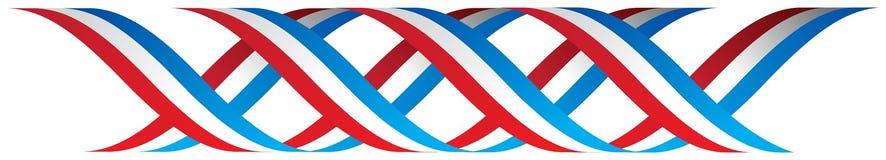 Ilustração patriótica da beira da bandeira americana ilustração royalty free