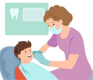 Ilustração pediatra de Vetora do dentista doutor fotos de stock royalty free