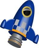 Ilustração pequena azul do navio do foguete ilustração royalty free
