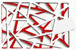 Ilustração Photorealistic de um decoupage de papel Imagem de Stock