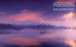 Ilustração poligonal da paisagem bonita Fotografia de Stock Royalty Free