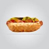 Ilustração poligonal do cachorro quente Foto de Stock Royalty Free