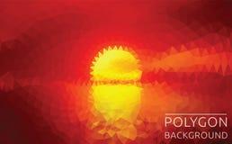 Ilustração poligonal do por do sol Imagem de Stock Royalty Free