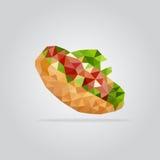 Ilustração poligonal do sanduíche Imagem de Stock