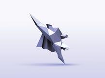 Ilustração poligonal do vetor do caráter do super-herói do voo Fotografia de Stock Royalty Free